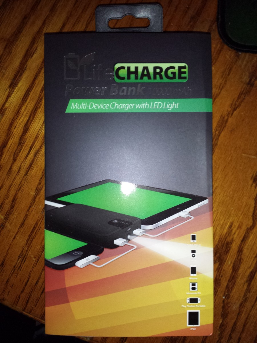 LifeCHARGE Multi-Device Charger 10,000 mAh Power Bank Review