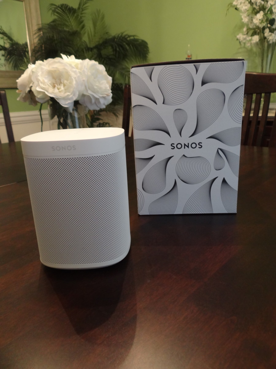 Sonos One is a beautiful looking speaker with excellent sound quality.