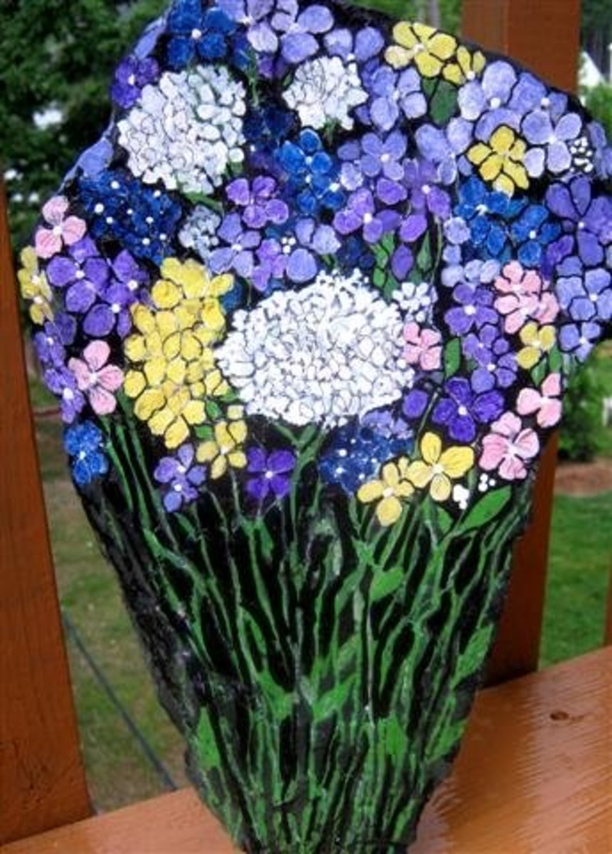 Bouquet of Flowers Just for You! - This is my first two sided piece, the other side is pictured below...
