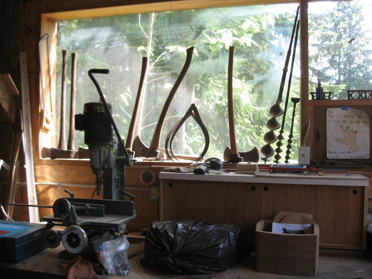 Part of Andrews antique tool collection