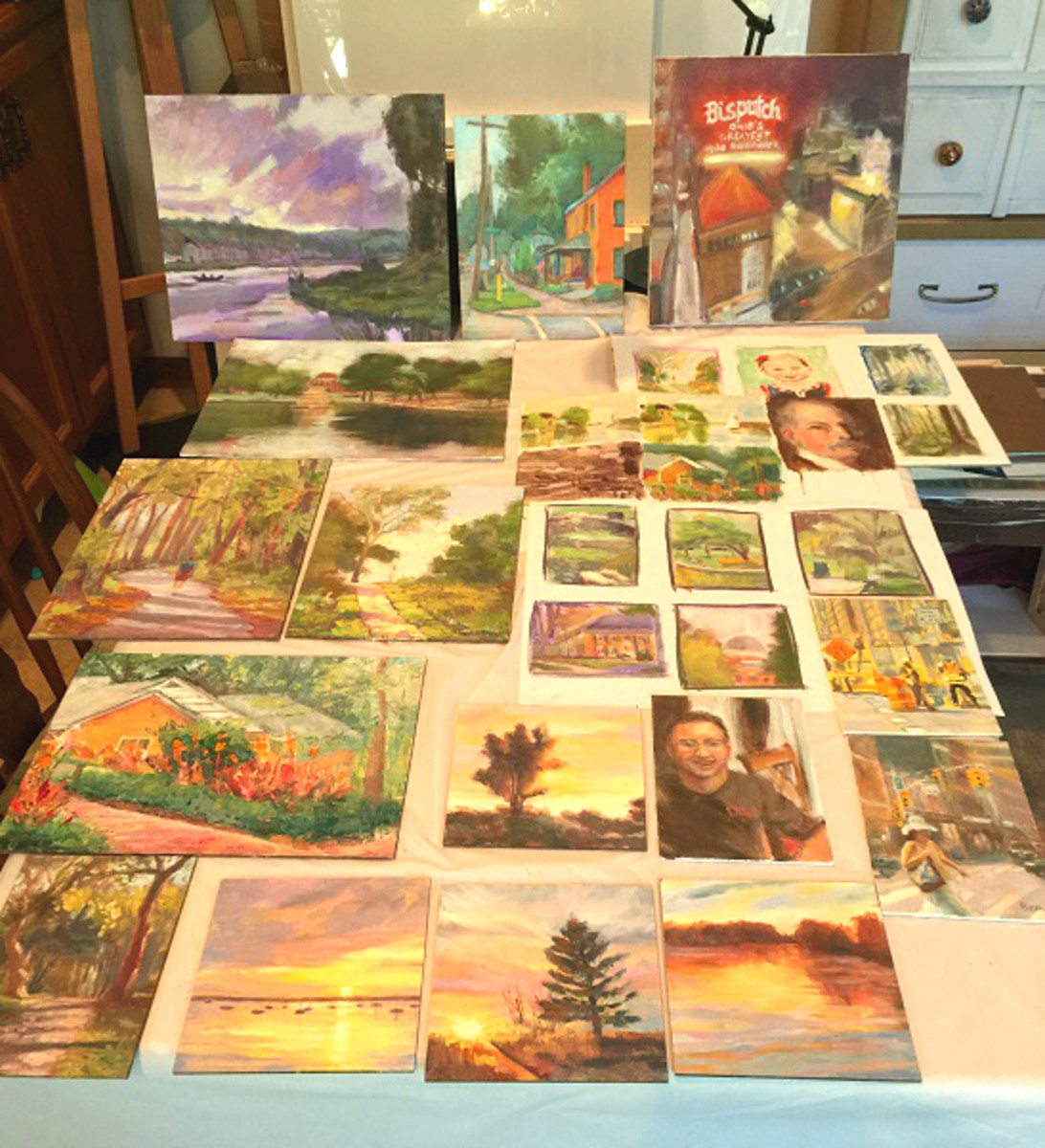 I love to participate in the 30 paintings in 30 days challenge, twice a year. These are the daily paintings completed in September 2017.