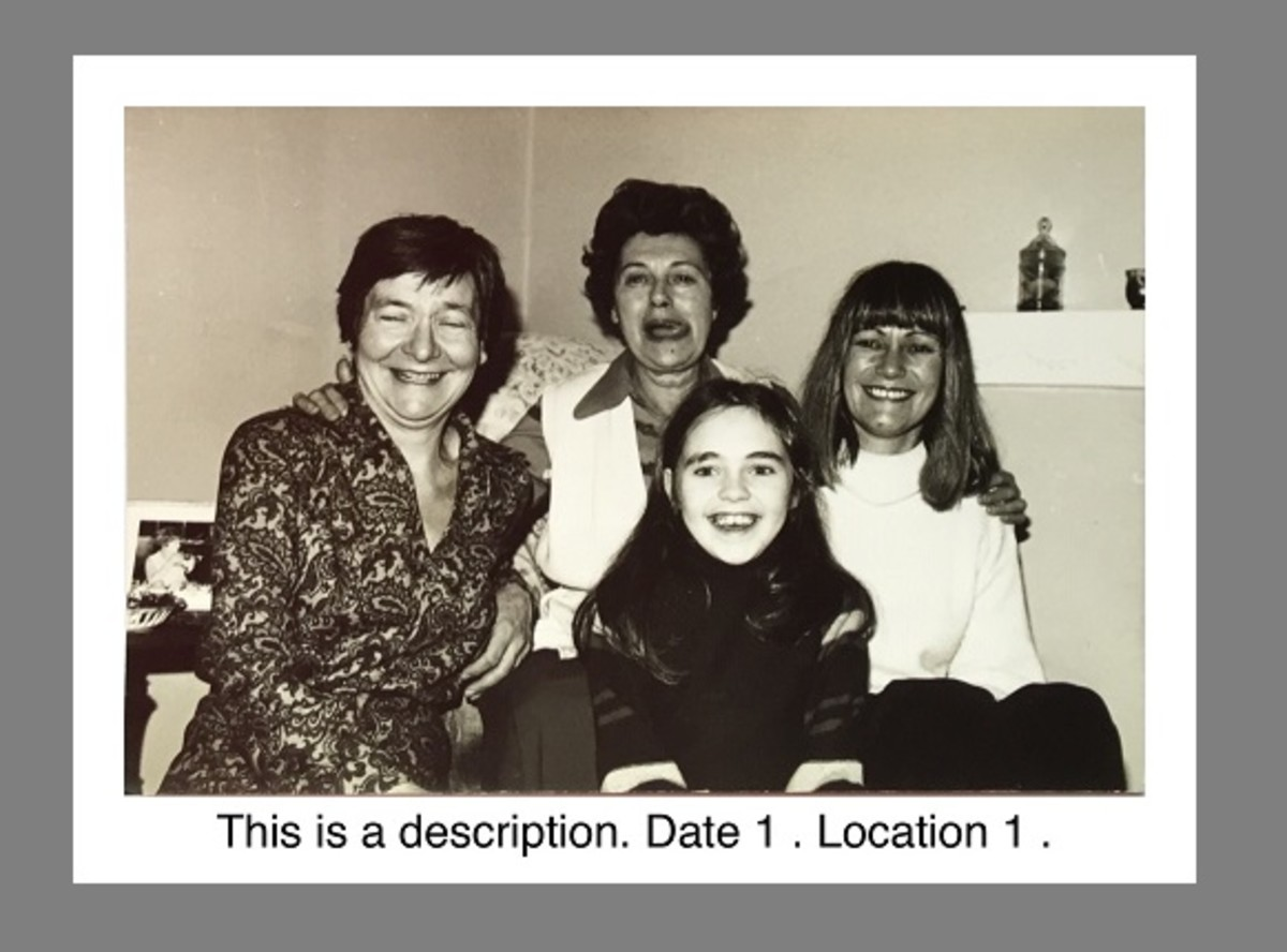 Captioned image with white border