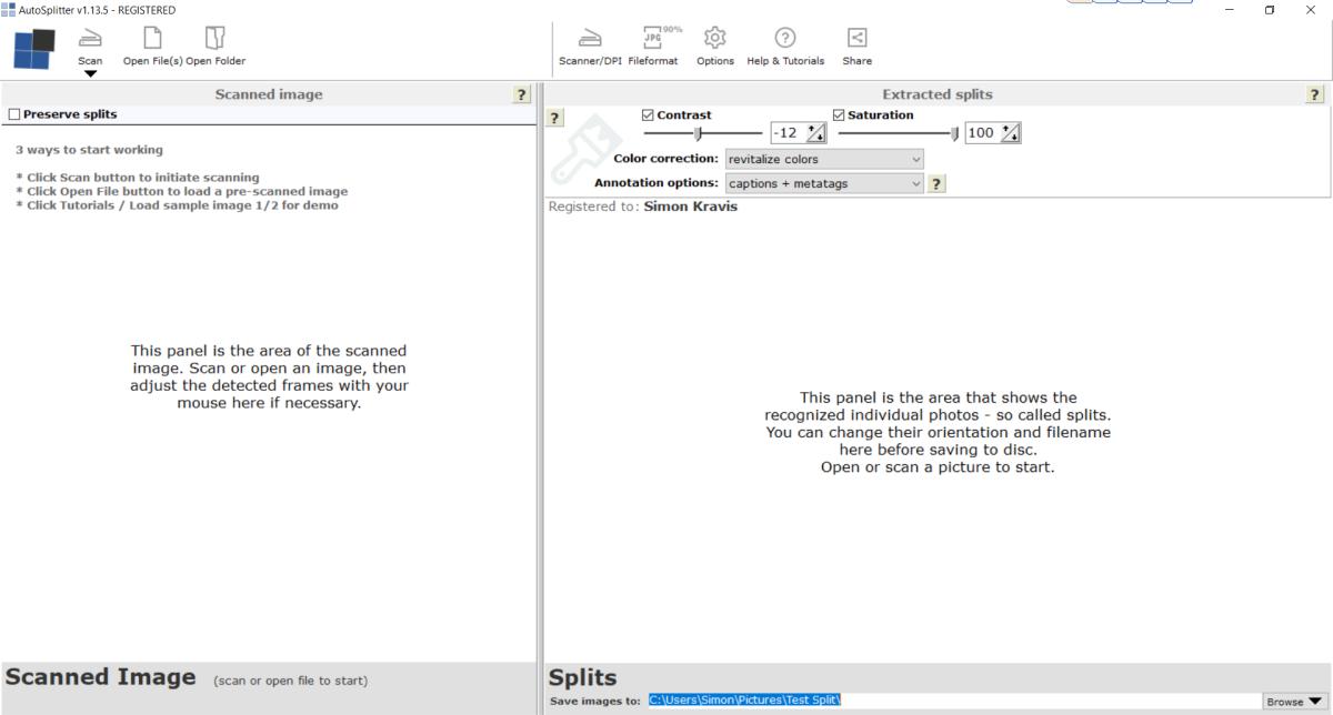 AutoSplitter Start Screen