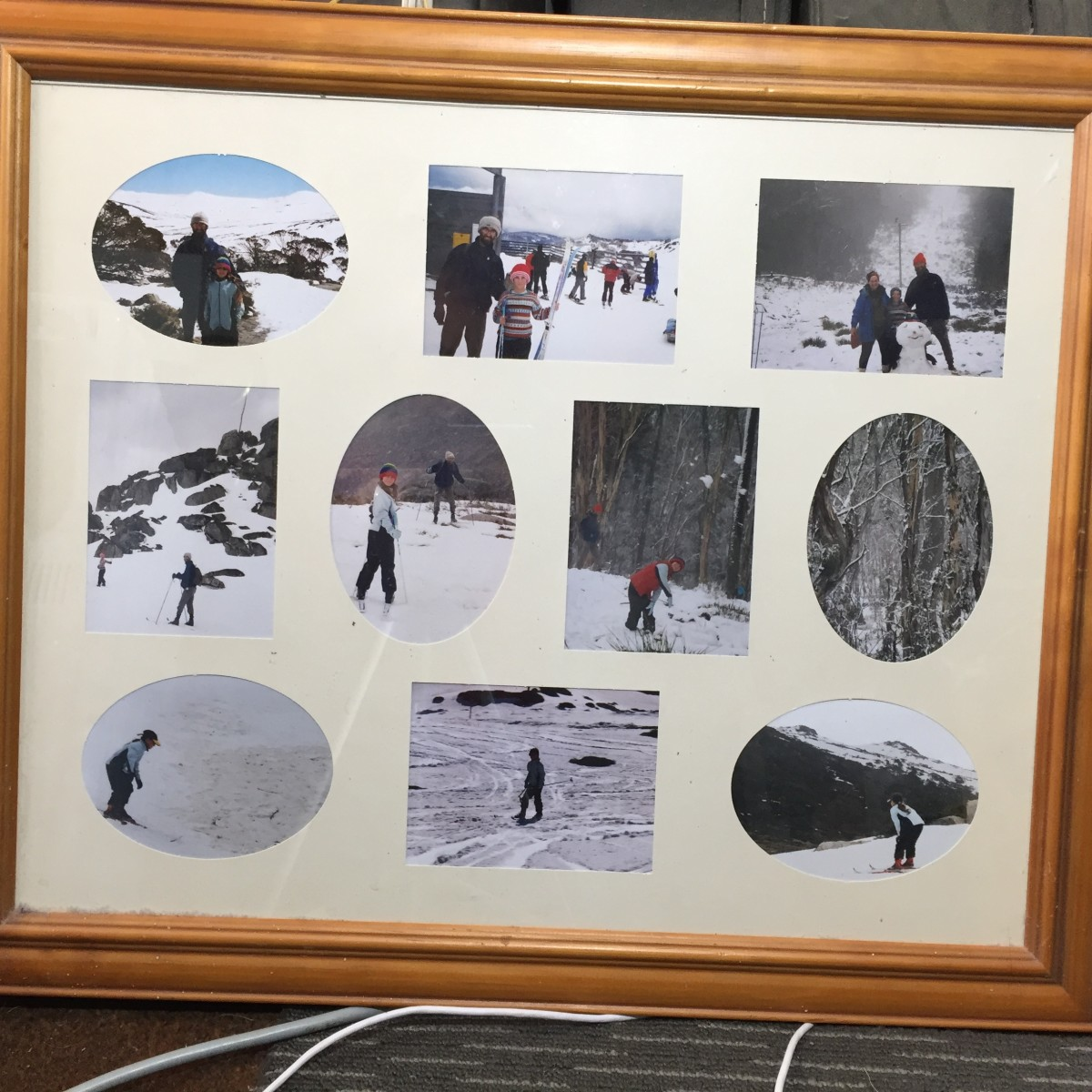 Framed photos with matte