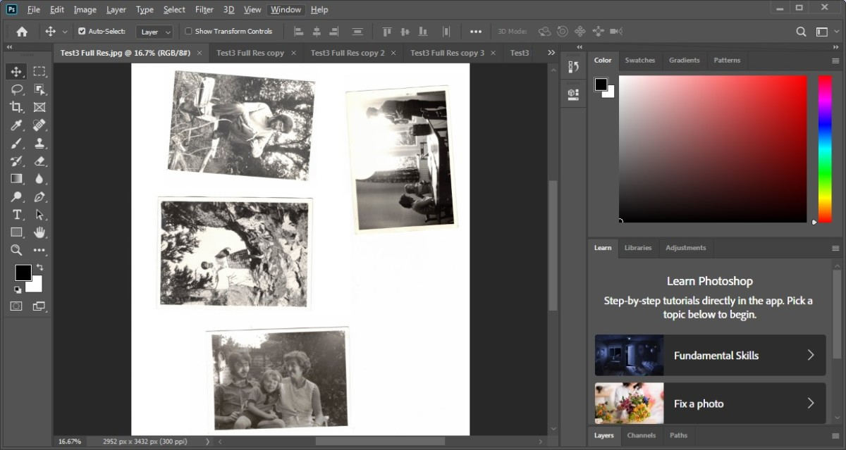 Photoshop Crop and Straighten