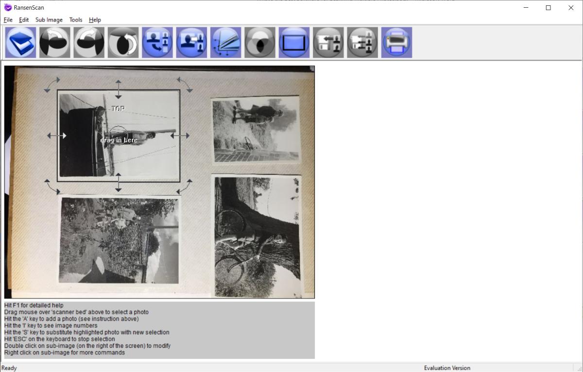 Manual creation and adjustment of photo region