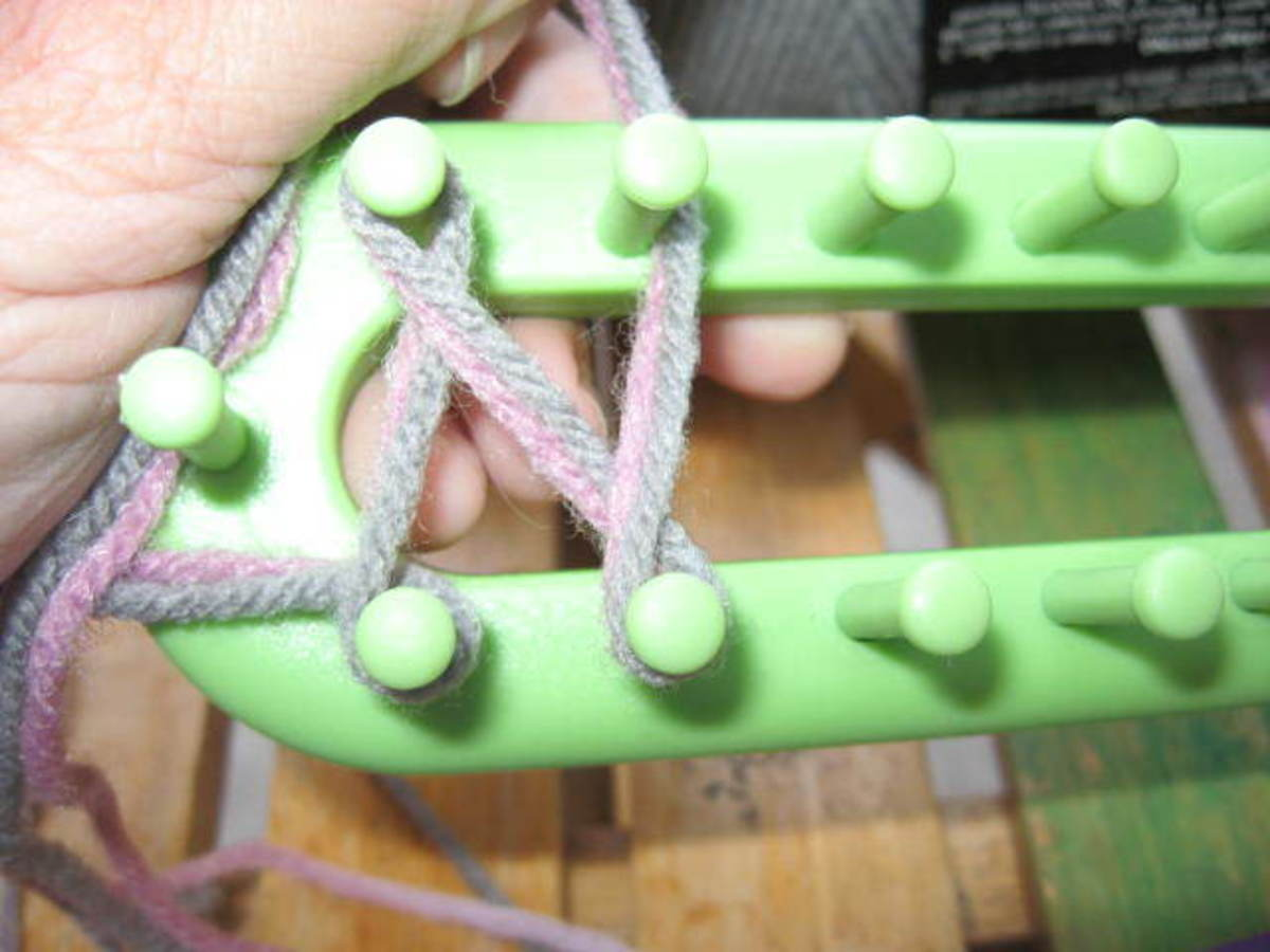 Keep going until you get to the end of the loom.