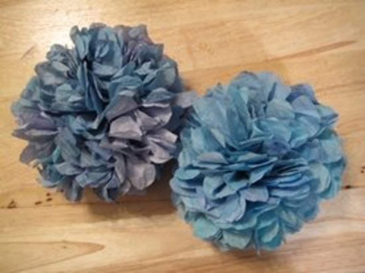 Fun Snowball or Hydrangea Style Flowers. Blue Coffee Filter Flowers - With or Without Fragrance
