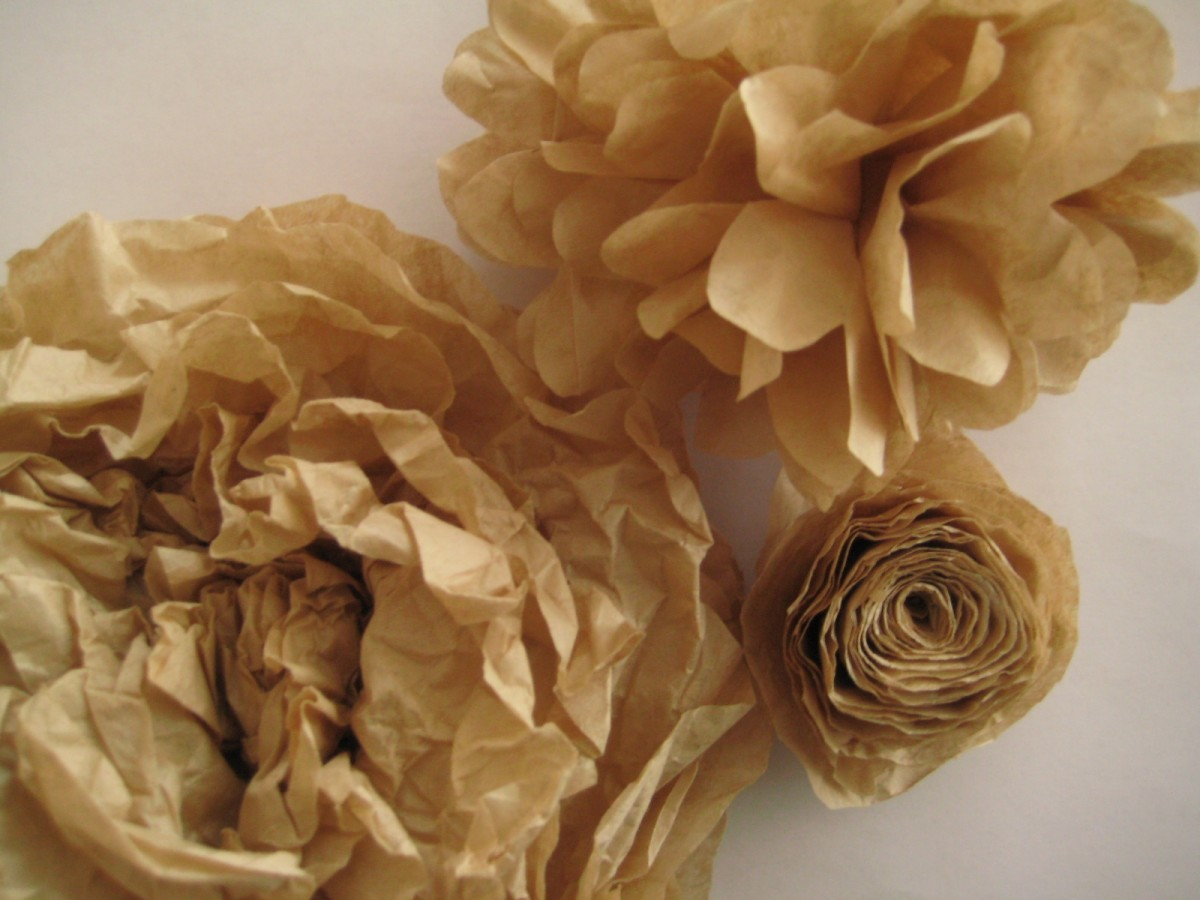 Unbleached Coffee Filter Flowers have a Unique Effect