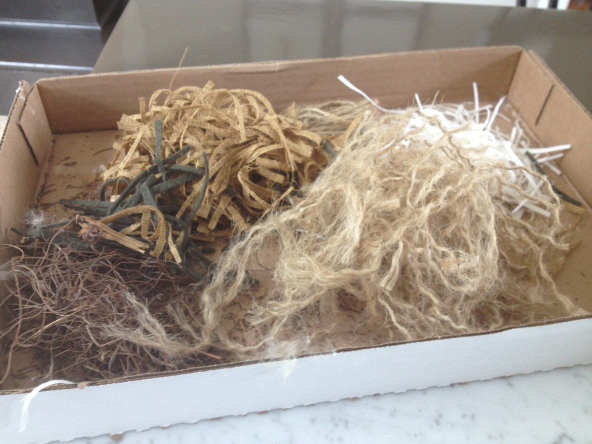 Twine - Twigs - Fabric - Felt