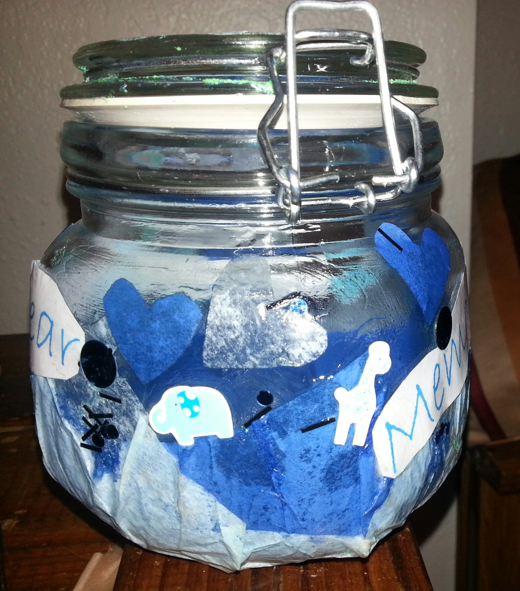 "My completed ""Babys First Memory Jar"""