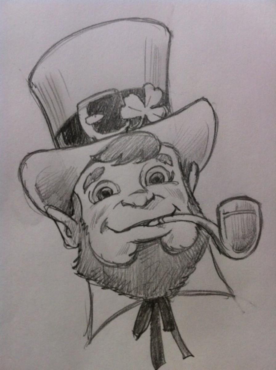 drawing-a-leprechaun