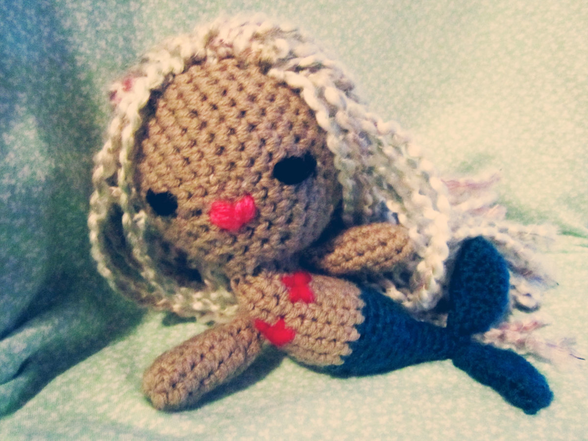 Finished mermaid just lounging about.