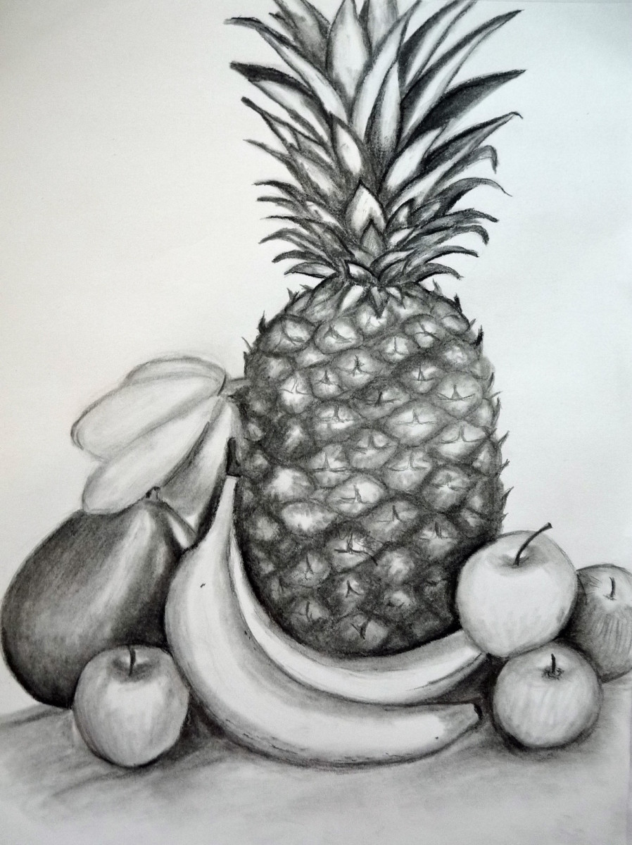 The completed sketch... Drawing a still life can be easier than you think.