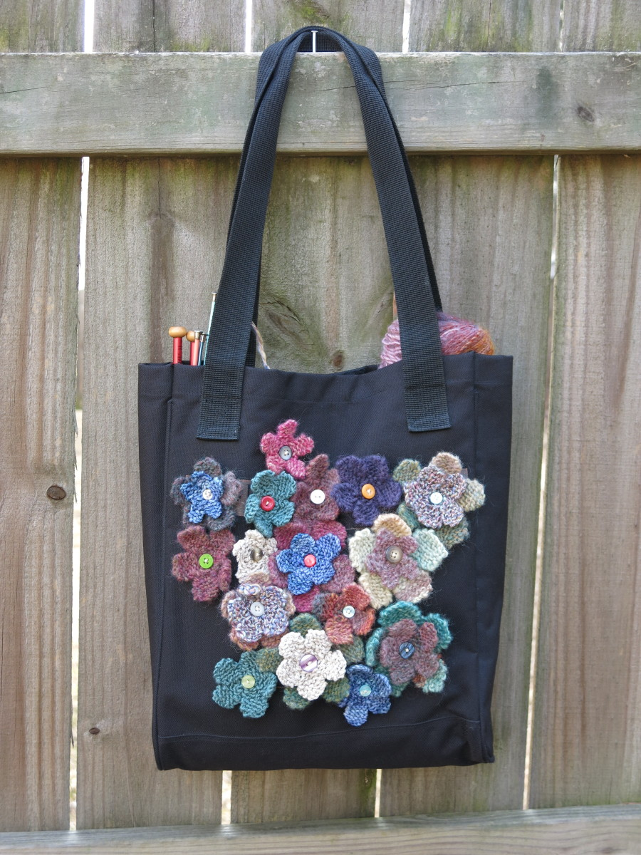 Finished Field of Flowers Tote Bag