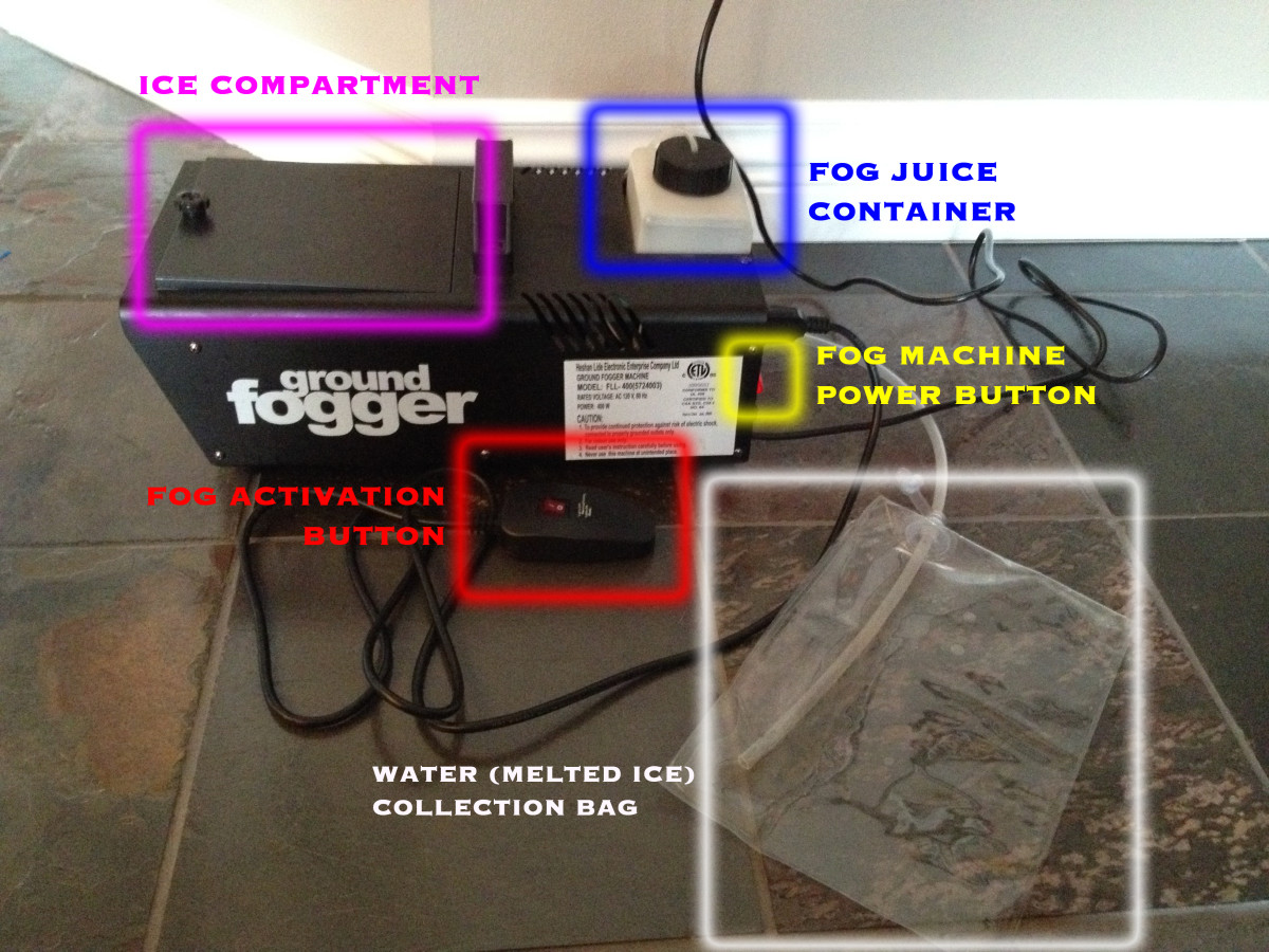 Here's a look at the various features of my fog machine.