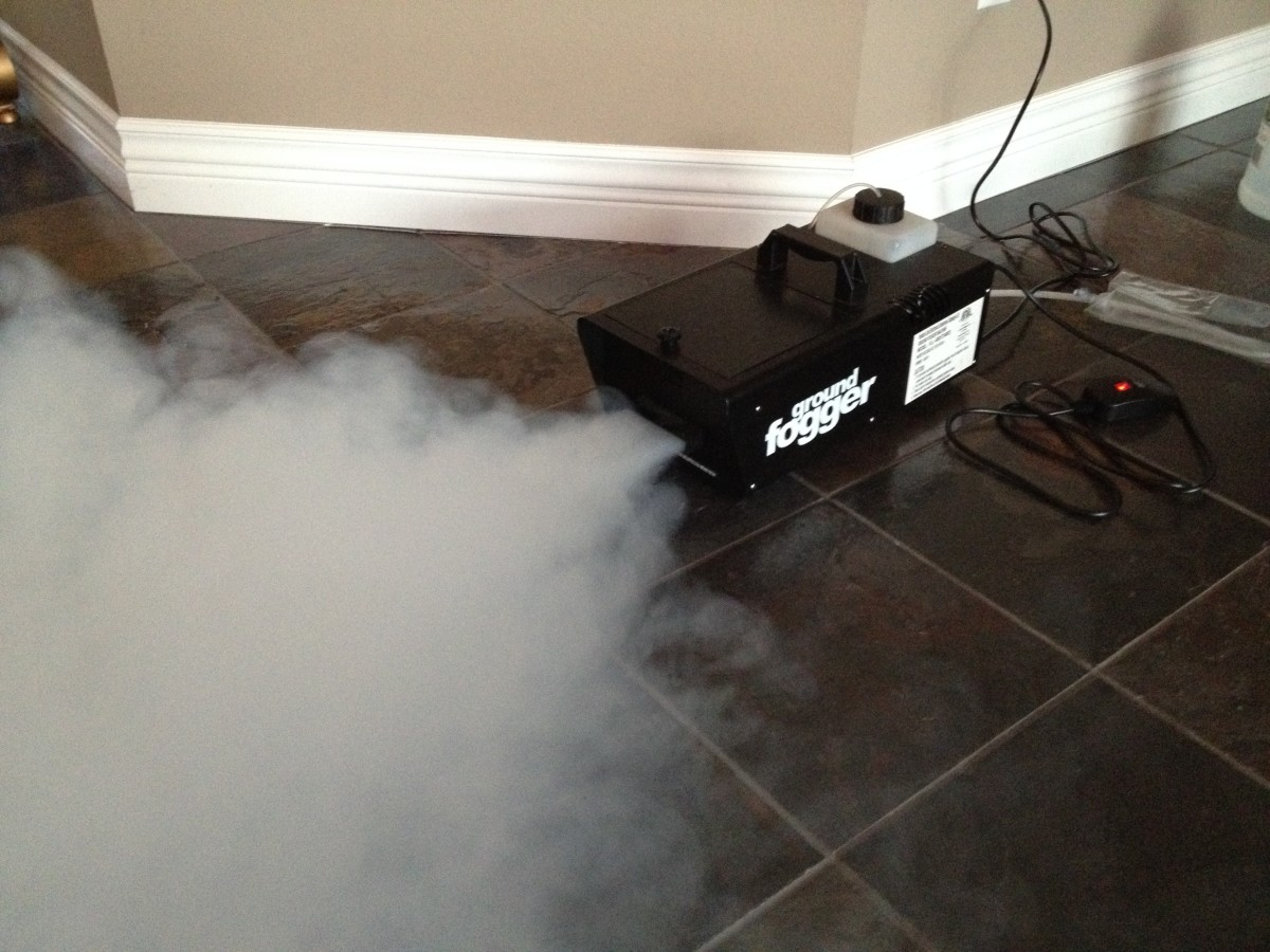 Here's my fog machine producing a low-lying fog.
