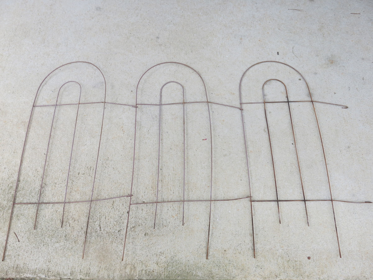old wire fence from our garden