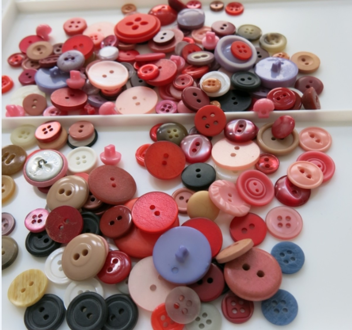 buttons in a variety in colors