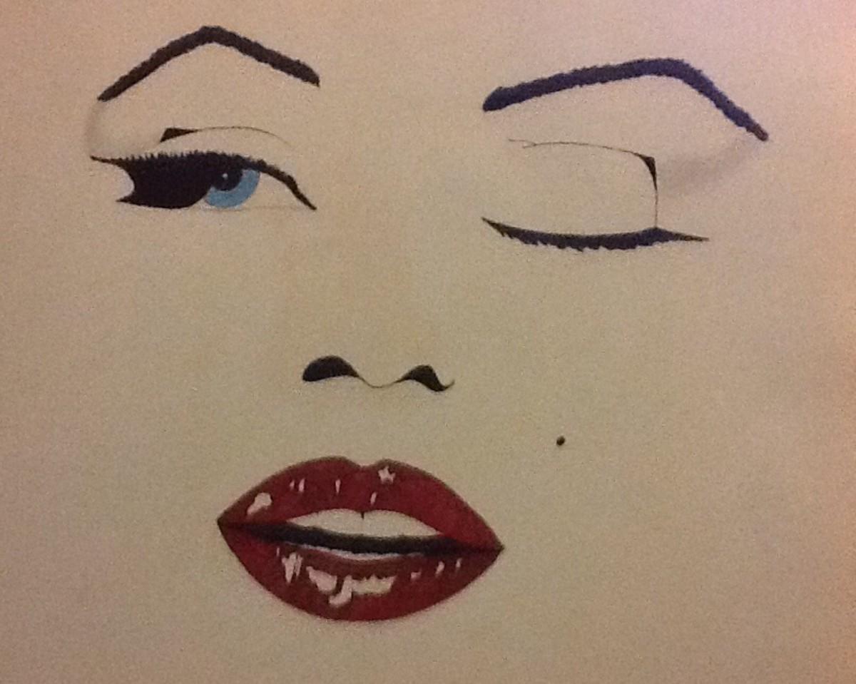 My sketch of Marilyn Monroe T shirt design)