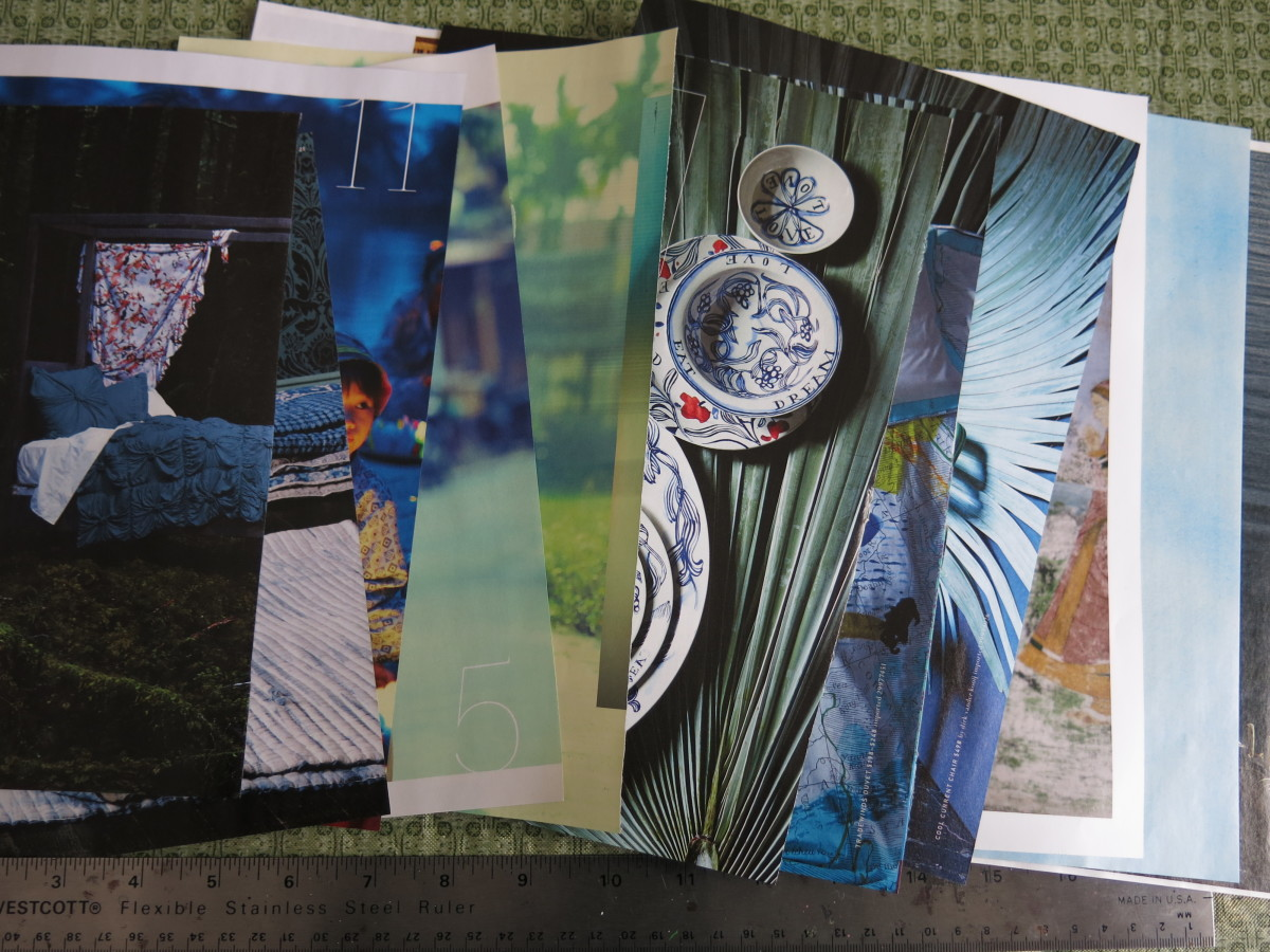 catalogs and magazines are great sources for colorful images for paper beads