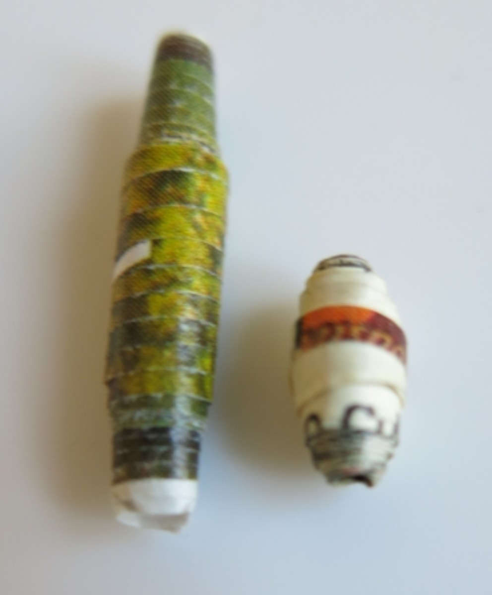 Evenly rolled paper beads