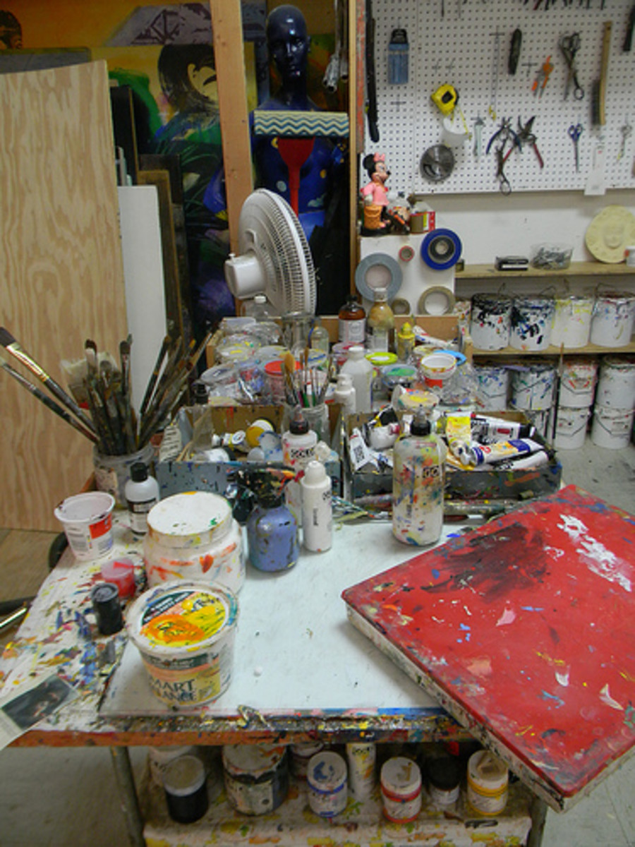 Visit the art studio to see what the artist use and have the opportunity to find out about what he or she needs.