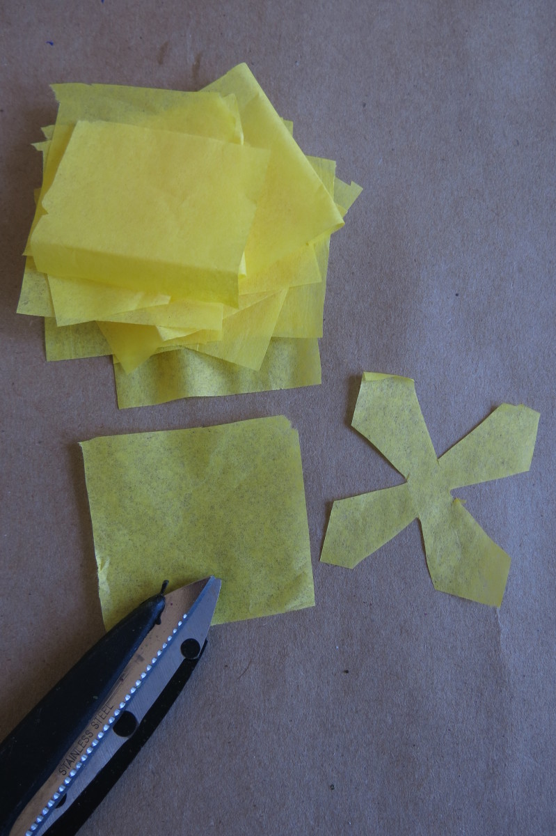 Cutting out your paper blossoms