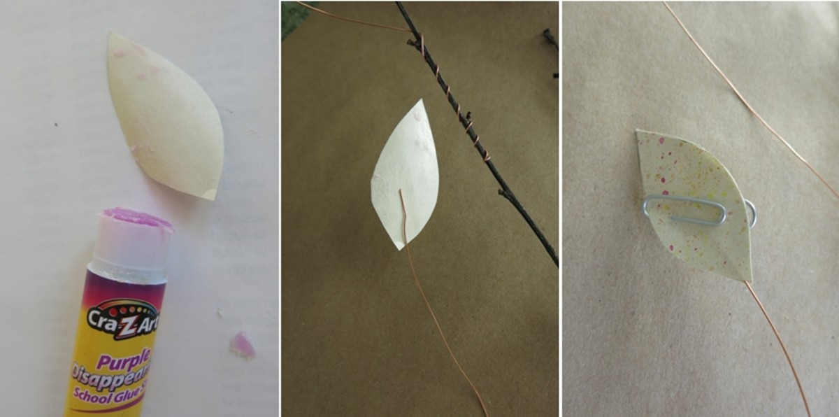 Attaching your decorative elements to your branch