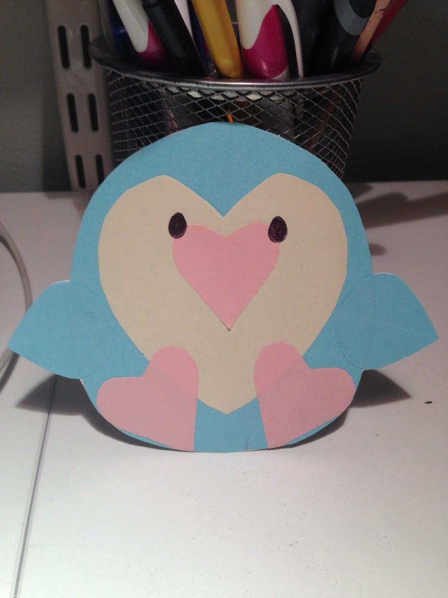 Finished Penguin Card