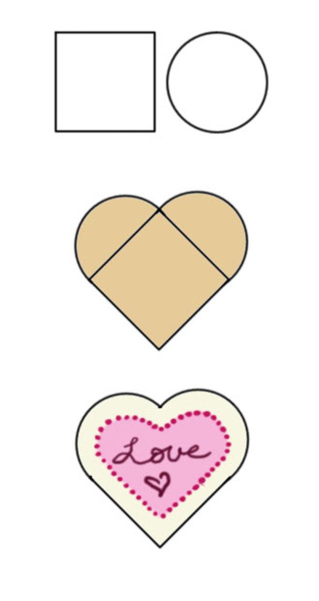 How to make a heart-shaped cake.