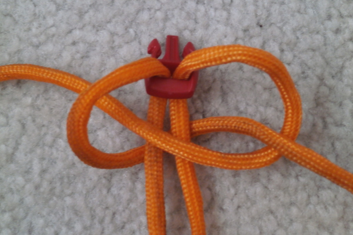 Arranging the 1st knot