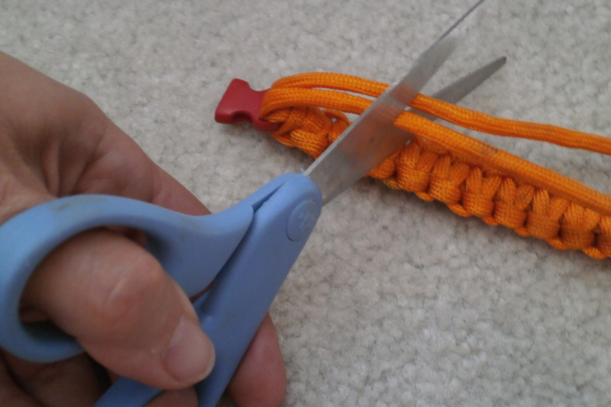Trim the ends to approximately 1.5 inches, then seal the ends