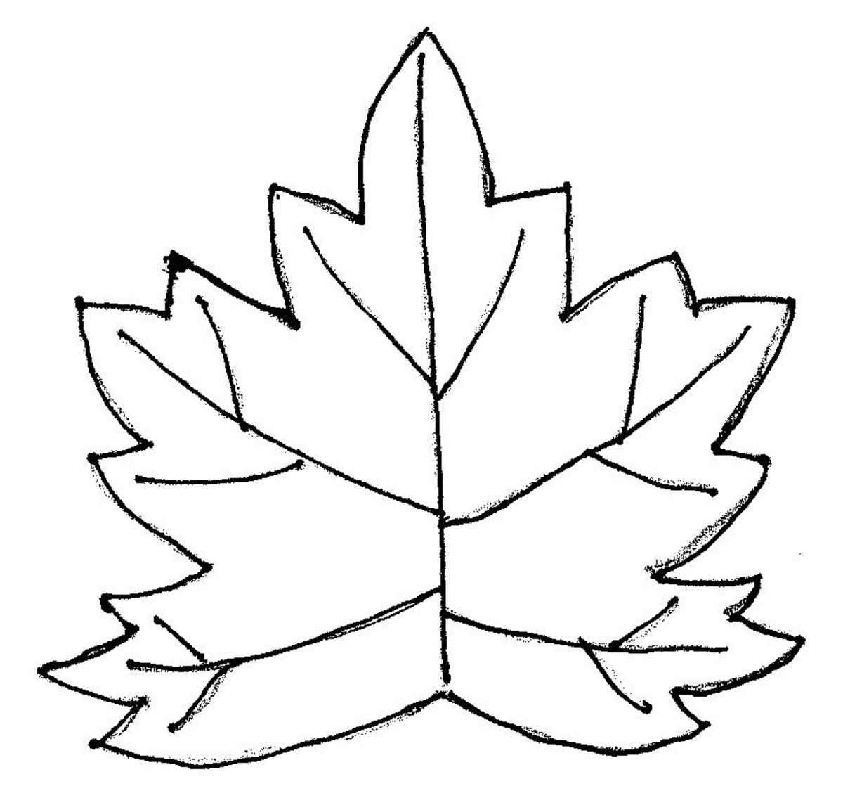 Template for scrap fabric maple leaf