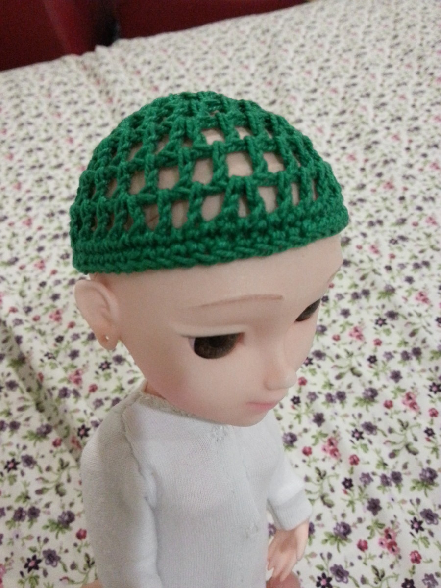Finished wig cap.