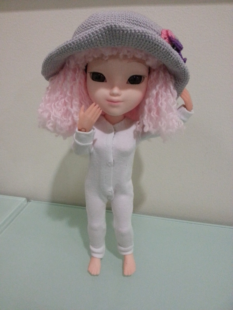 My Makies doll with the wig and a hat from Pullip.