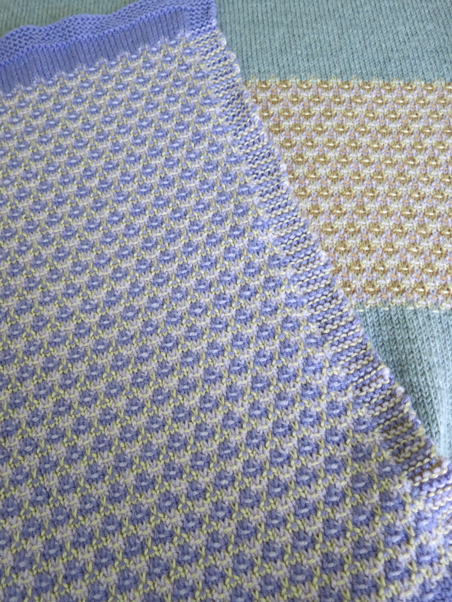 Mosaic Blanket Knitting Pattern