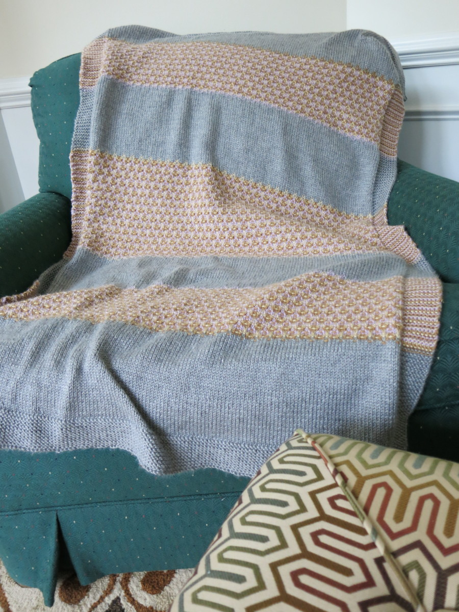 Adult-sized Mosaic Lap Afghan