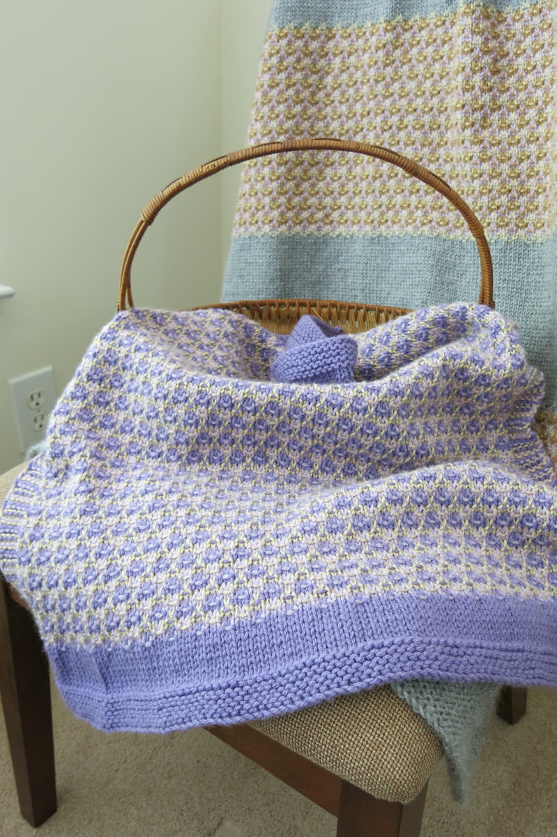 Free Knitting Patterns For Lap Blankets : Free Knitting Pattern: Mosaic Baby Blanket or Lap Afghan
