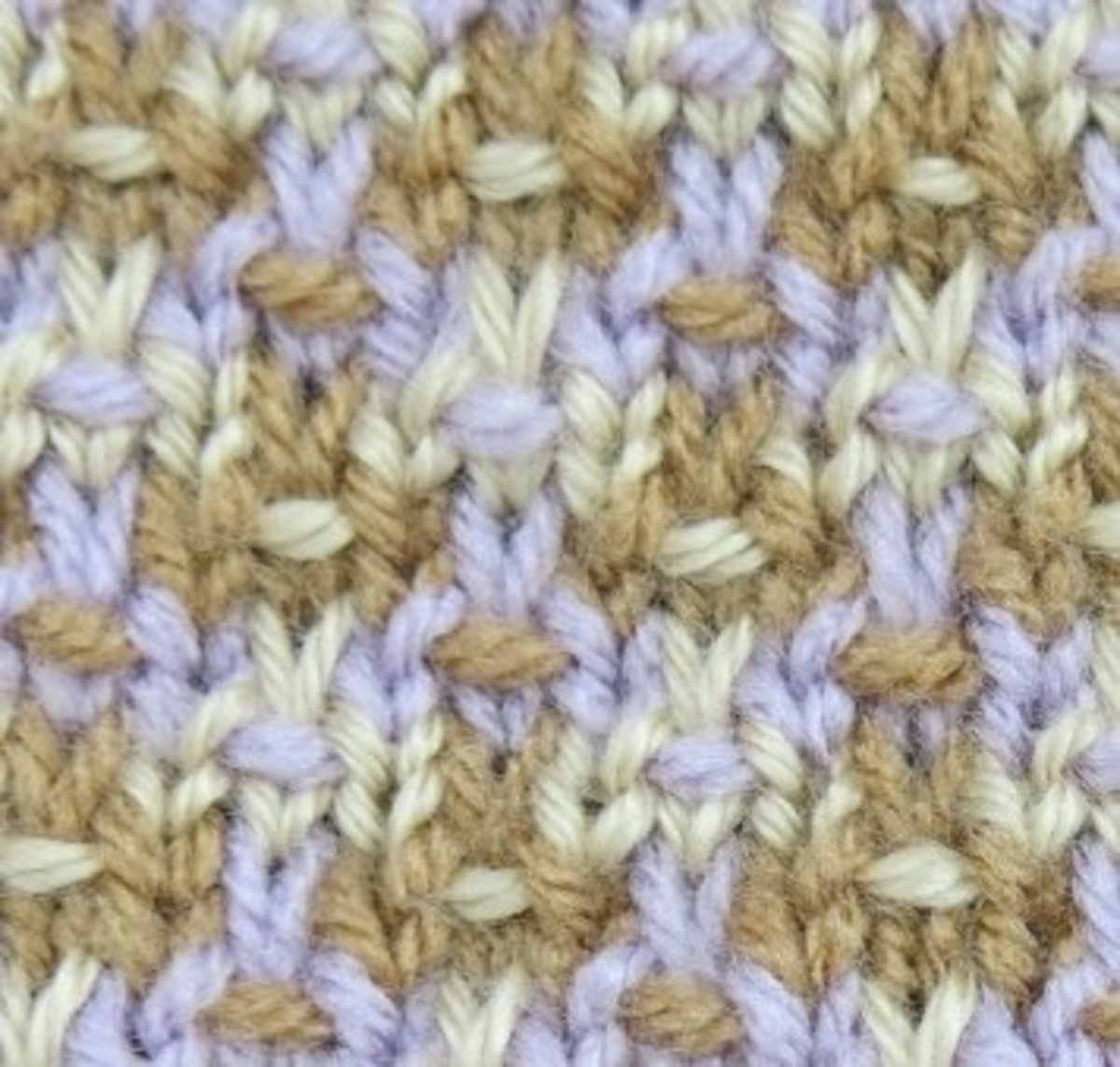 Detail of Mosaic Knitting Pattern