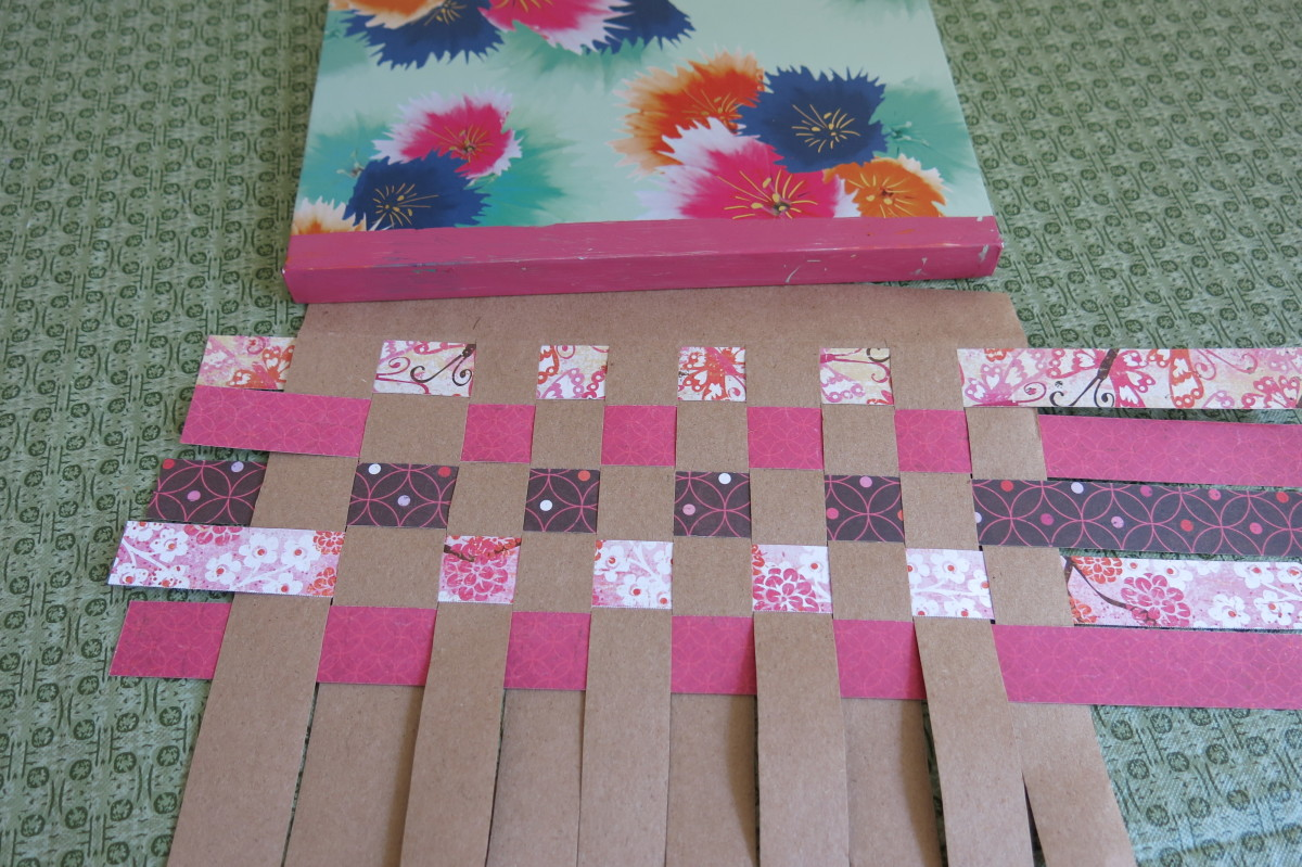 Weaving the paper for your journal or book cover.