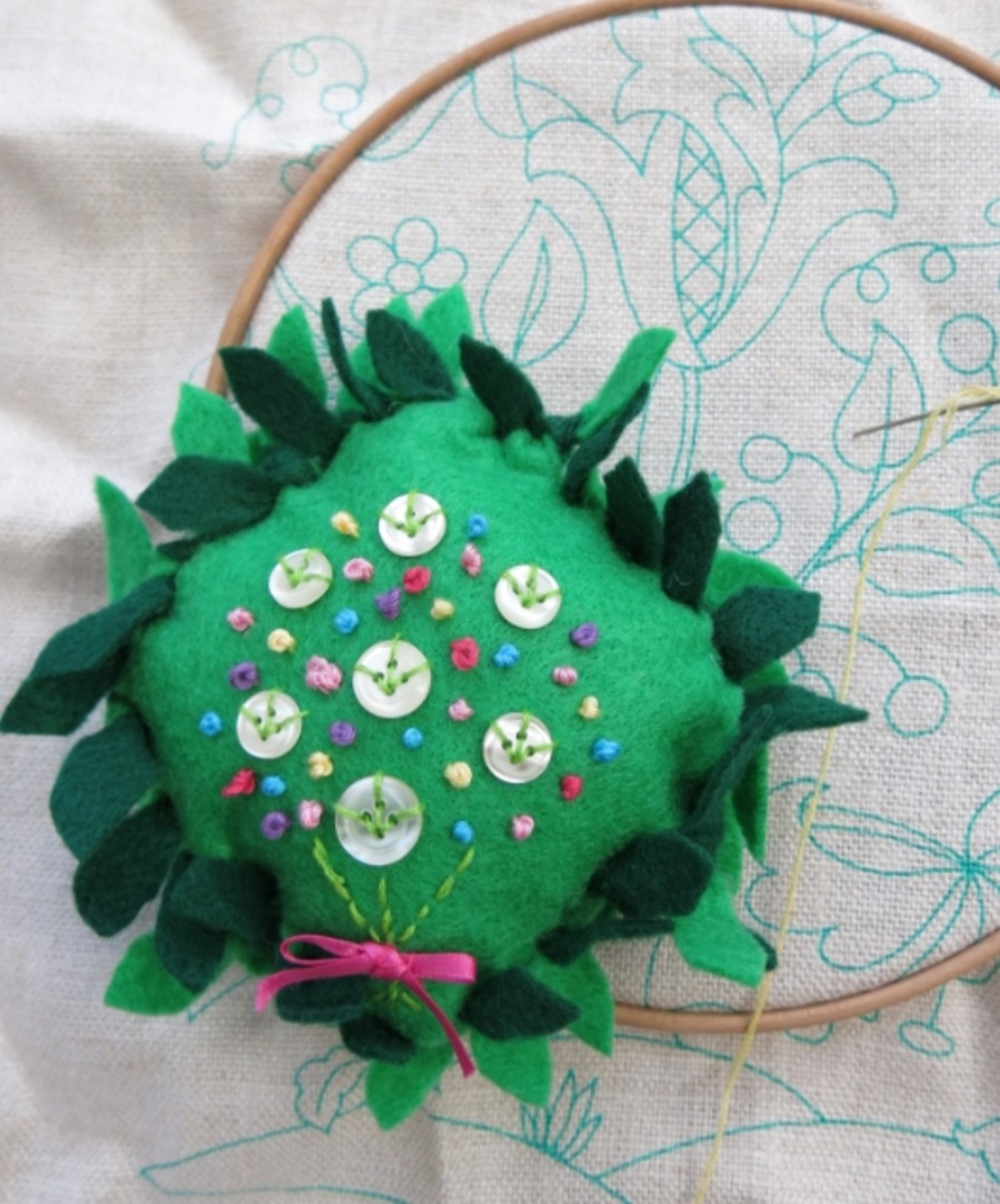 How to create a simple floral bouquet design in embroidery.