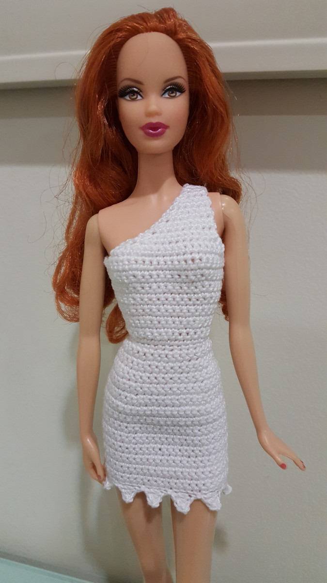 Barbie Wilma Flintstone Inspired Bodycon Dress Free Crochet Pattern