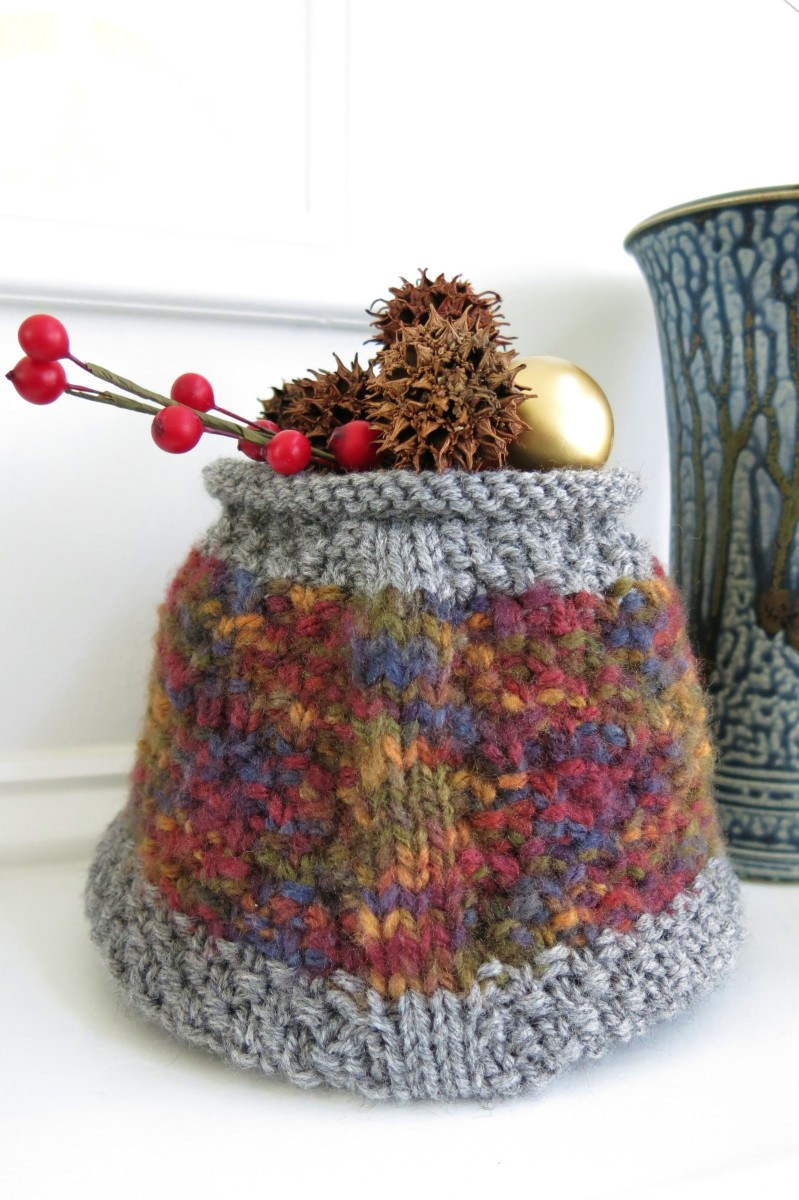 Knitting Pattern for Geometric Basket