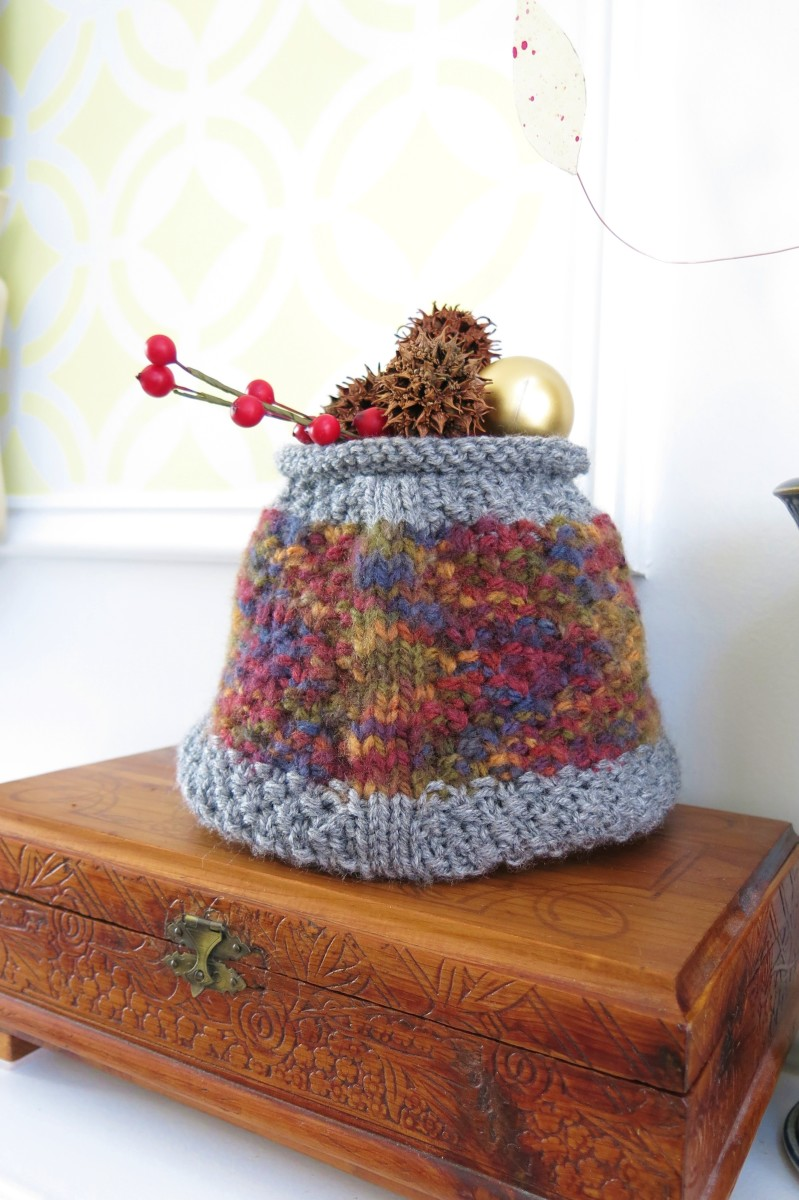 Geometric Basket - free knitting pattern