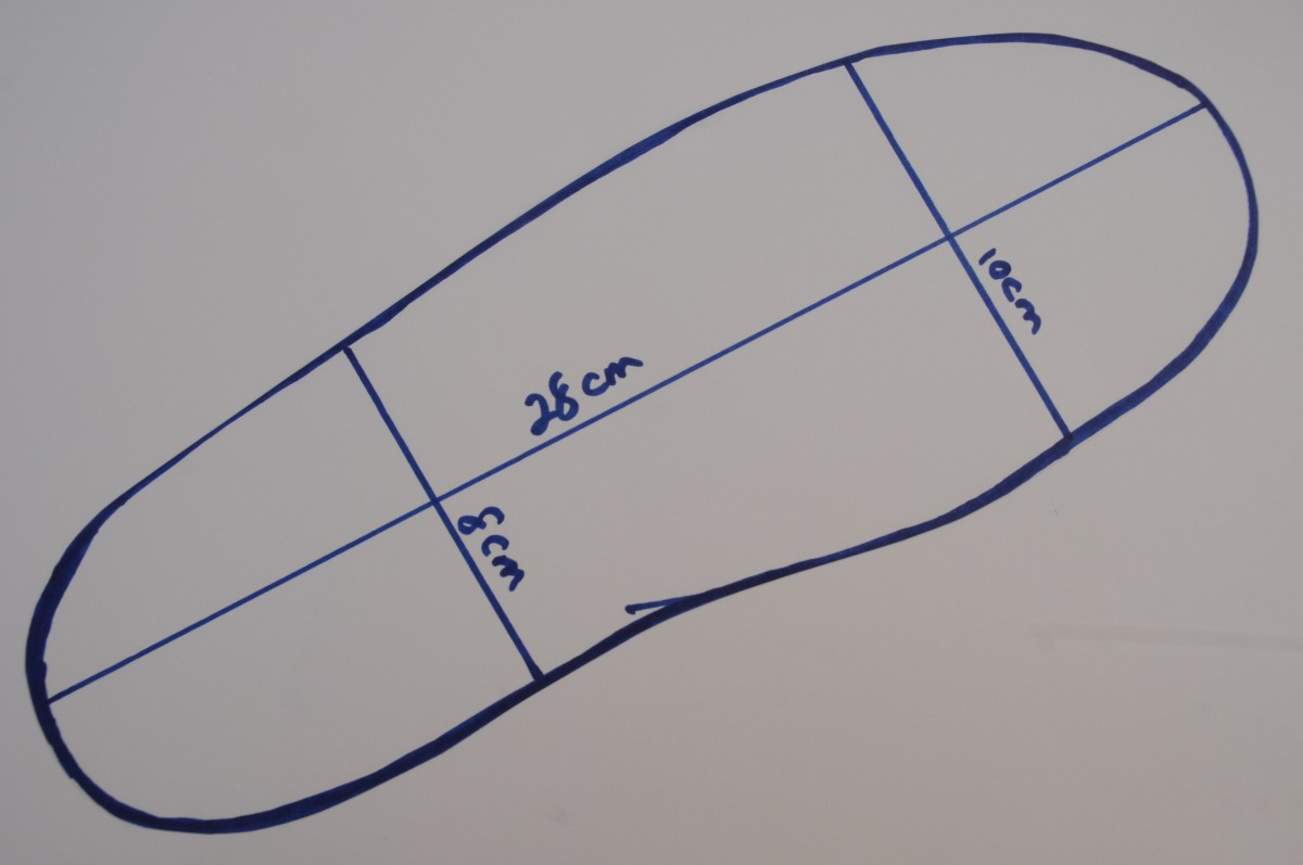Draw around the boot on a sheet of paper
