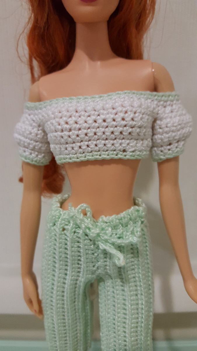 Barbie Cropped Top w/ Puffy Sleeves
