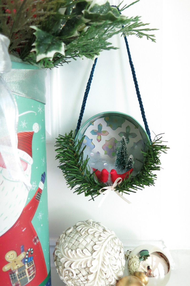 you can make a sweet christmas tree ornament using a box lid - How To Make A Christmas