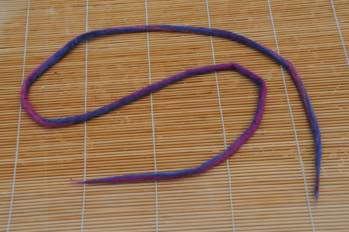 A completed dreadlock (wet)