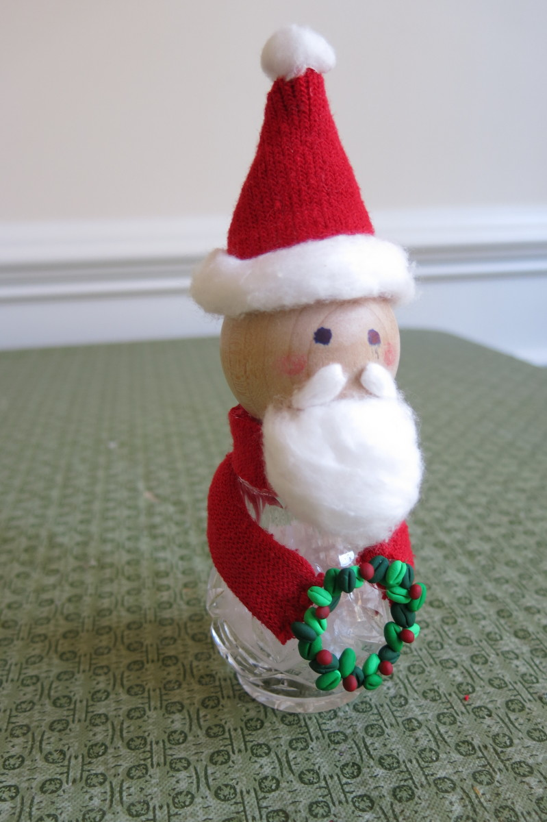 Diy Craft Tutorial How To Make A Snowman And Santa Figure From Salt And Pepper Shakers Feltmagnet Crafts